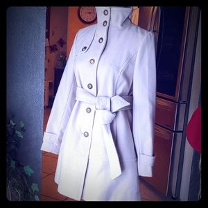 Marvin Richards Stand Collar Coat. NWT